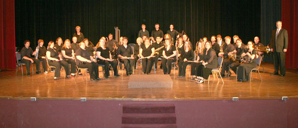 "THE WEST PLAINS COMMUNITY BAND, under the direction of Rocky Long, will present ""Shades of Green – Songs from Ireland"" at 7 p.m. Monday, March 12, at the West Plains Civic Center theater in honor of St. Patrick's Day.  The free concert is being sponsored by the University/Community Programs Department of Missouri State University-West Plains.  (Missouri State-West Plains Photo)"