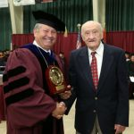 Norman 'Joe' Spears receives Granvil Vaughan Founder's Award at commencement