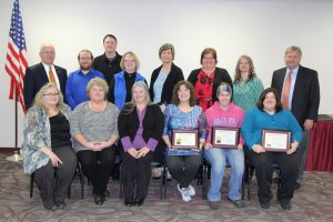 Several staff members recognized for service