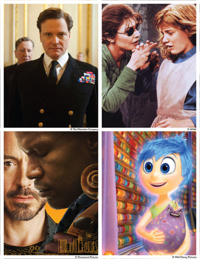 THIS YEAR'S FEBRUARY Film Series hosted by Missouri State University-West Plains features movies that bring attention to the daily experiences of those with disabilities. Films that will be shown free of charge at the West Plains Civic Center theater include, clockwise from upper left, The King's Speech, The Miracle Worker, Inside Out and The Soloist. (Photos provided)