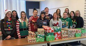 Student nurses provide gifts for Bridges Program
