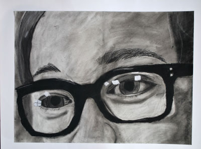 THIS CHARCOAL DRAWING by Faith Schilmoeller won the Best of Show award at last year's Art Around Town competition. Faith was an eighth grader at Howell Valley School in West Plains when she created this piece. (Missouri State-West Plains Photo)