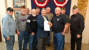 John T. Kirk VFW Post 1828 makes donation for Veterans Center