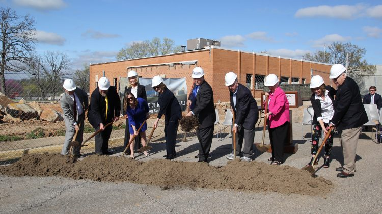 Donors, university officials break ground on Hass-Darr Hall