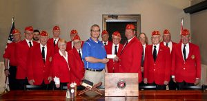 Marine Corps League donates $1,000 for the new Veterans Center
