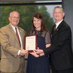 Barbara Caton receives community service award