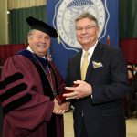 Jay Padgett receives Granvil Vaughan Founder's Award at commencement