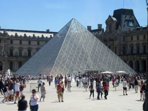 The Glass Pyramid in front of the Louvre Museum in Paris, France. (Missouri State-West Plains Photo)