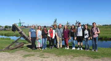 9 students visit the Netherlands, France as part of study away trip