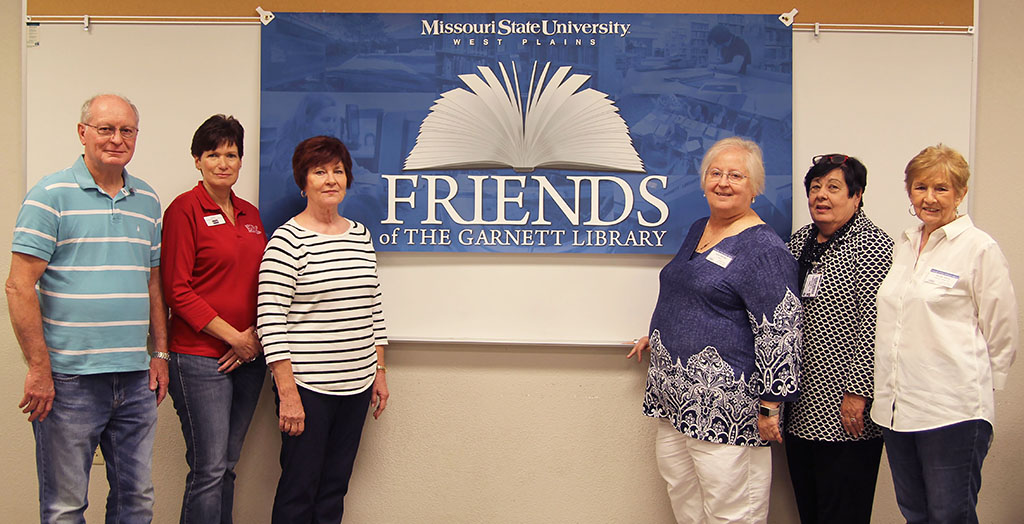 OFFICERS OF THE FRIENDS of the Garnett Library Executive Committee for the 2017-18 academic year are, from left, Publicity Chairs Gale and Linda Wooten, Secretary Carolyn Gerber, President Susie Warden, Membership Chair Carol Silvey, and Projects/Fundraising Chair Miriam Ward. Formed in 1992, the organization helps raise awareness of the services offered by the library and its needs. They meet the second Friday of each month from September through April. For more information about meetings or how you can join, call 417-255-7940 or email FriendsofGarnettLibrary@MissouriState.edu. (Missouri State-West Plains Photo)