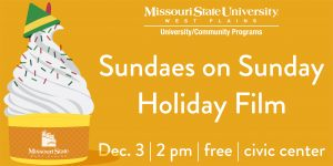 Celebrate the holidays with 'Sundaes on Sunday' film showing