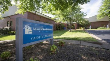 The Garnett Library and sign
