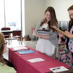 Two teachers register for 2017 Teacher Placement Day. (Missouri State-West Plains Photo)