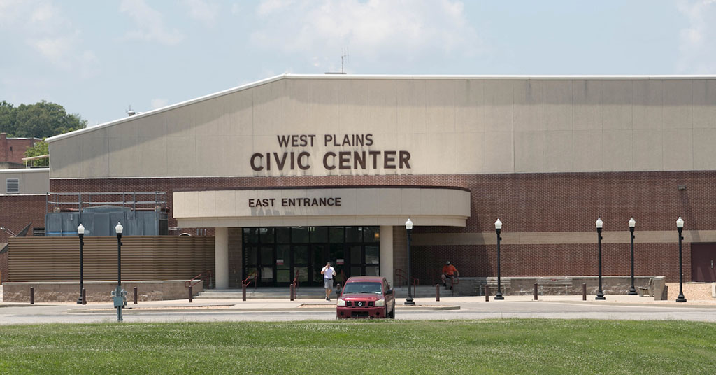 West Plains Civic Center East Entrance