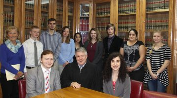 Students participate in service learning project with 37th Circuit Court