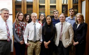 Missouri Supreme Court clerk visits with political science students