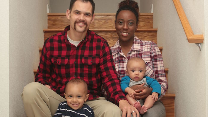 Douglas Cordel with wife, Brittany, sons, Titus and Xander