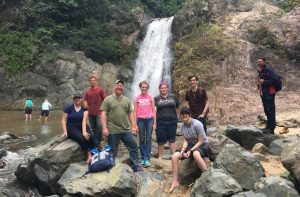 Honors program students participate in service learning project during study away trip