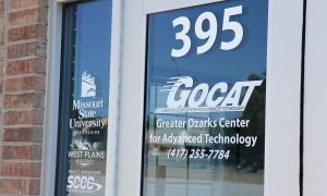 signage on the door of the Greater Ozarks Center for Advanced Technology