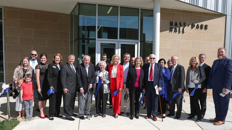 Dedication, ribbon cutting officially opens Hass-Darr Hall