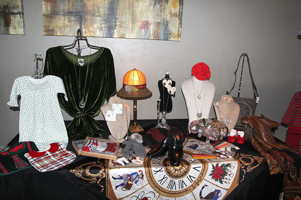 Clothing, jewelry and other items are displayed at last year's Friends of the Garnett Library fall fashion show.