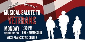 'A Musical Salute to Veterans' set for Nov. 12