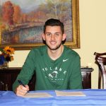 HENRI LANGTON, a 6-foot, 11-inch transfer forward with the Missouri State University-West Plains Grizzly Basketball team, signed an official letter of intent to continue his collegiate basketball career at Tulane University beginning this fall. (Missouri State-West Plains Photo)
