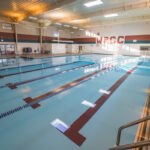 The collegiate sized pool at the West Plains Civic Center.