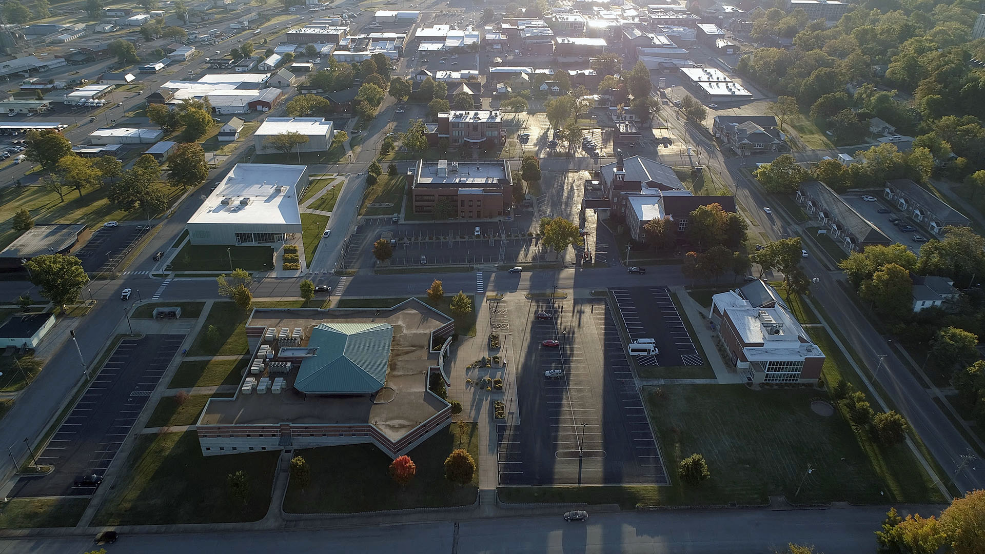 Aerial view of the main campus.
